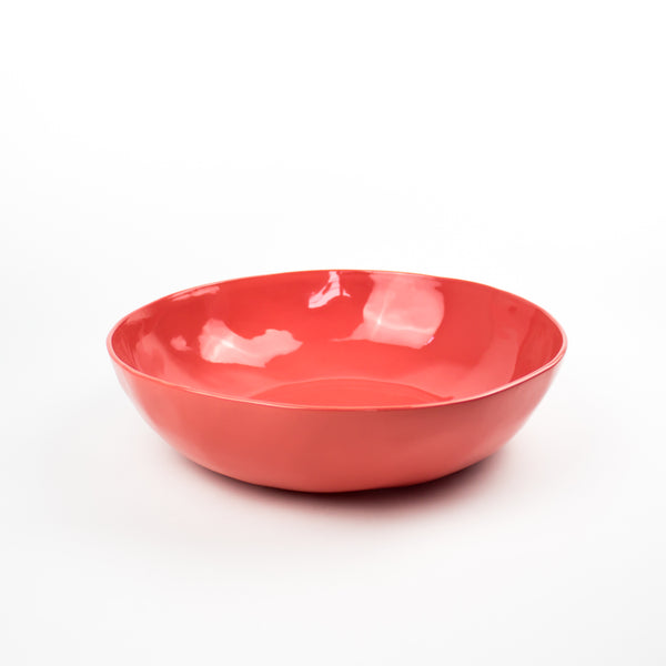 Serving Bowl, Deep Coral