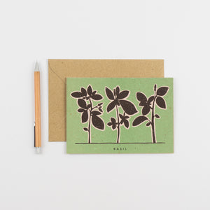Recipe Notecard - Basil