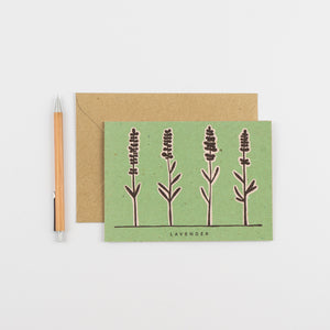Recipe Notecard - Lavender