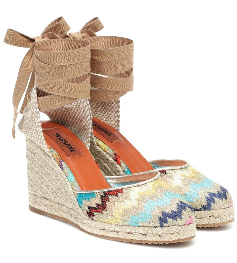MISSONI CHEVRON WEDGE ESPADRILLES