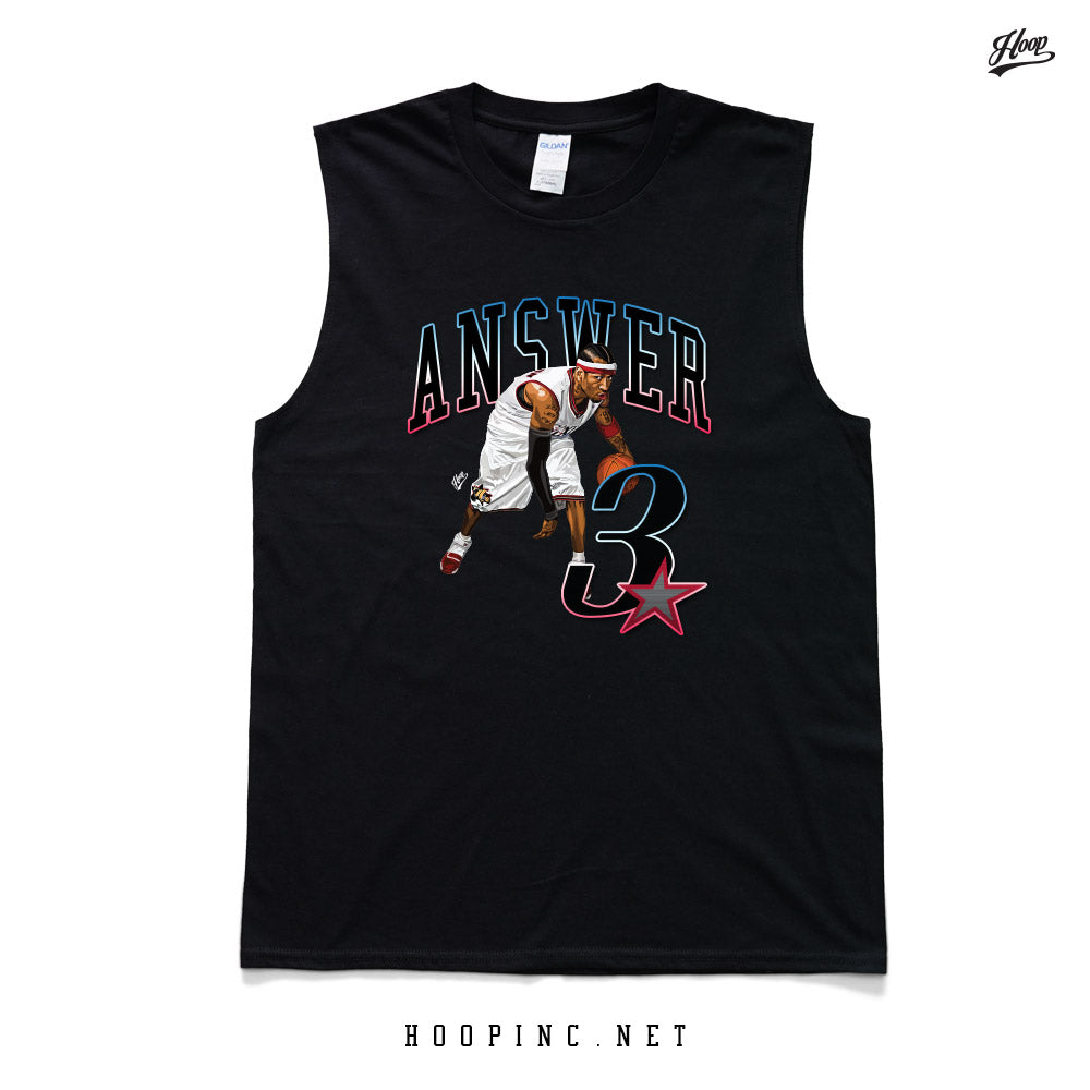 """Answer 3"" tee / sleeveless"