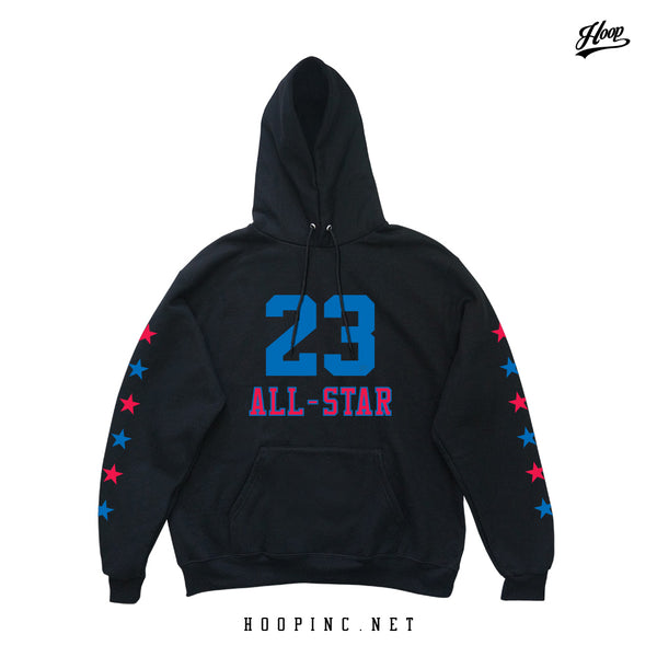 All-Star #23 Hoodies in Black (Inverse Blue)