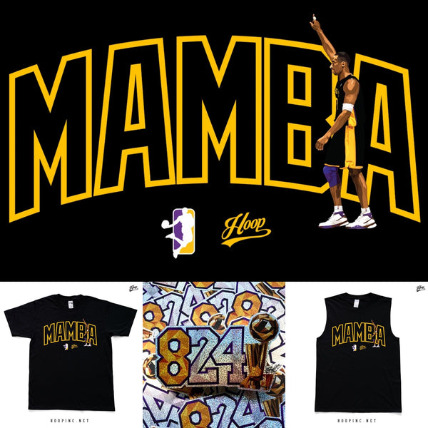 """Mamba 824"" tee / sleeveless tee + sticker set"