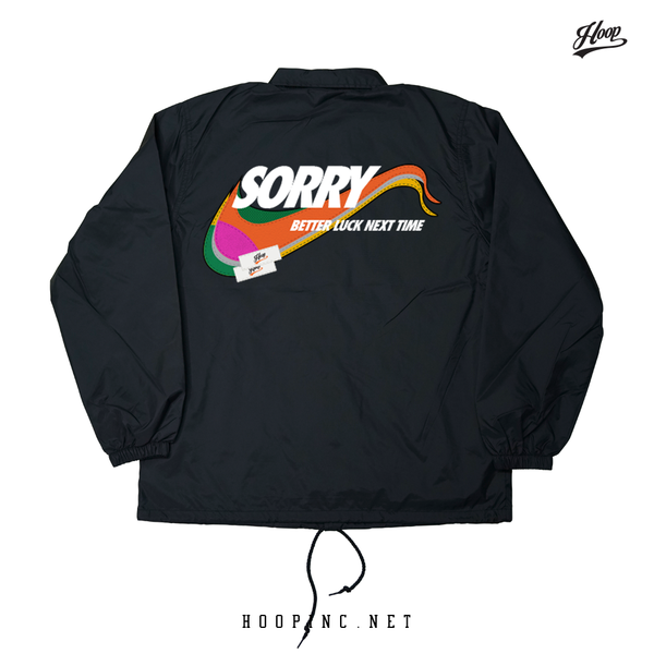 Sorry, Better Luck Next Time Multi Colour Coach Jacket
