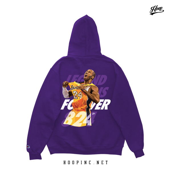 Legend is forever 824 hoodie purple