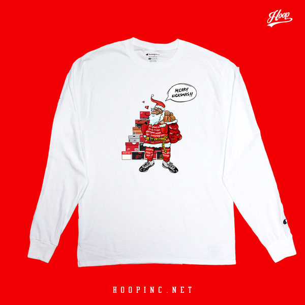 """2018 MERRY KICKSMAS"" long sleeve tee"