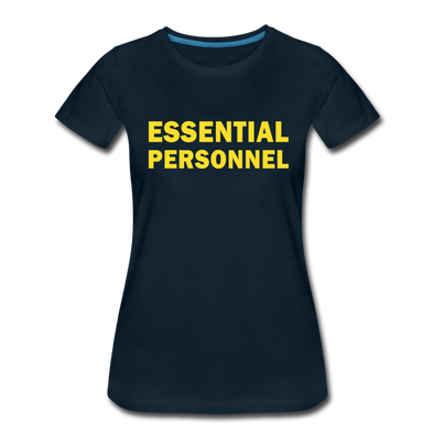 Women's Fitted Essential Personnel Tee - deep navy