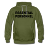 Military Style ESSENTIAL PERSONNEL Hoodie - olive green