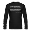 Trump Quote Long Sleeve Back In Black Shirt - black