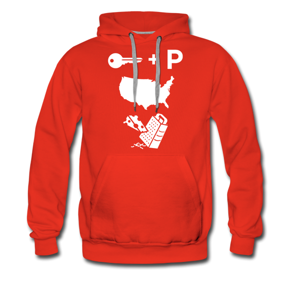 Premium Keep America Great Hoodie! - red