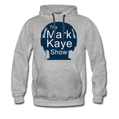 Classic Gray Blue Head Hoodie - heather gray
