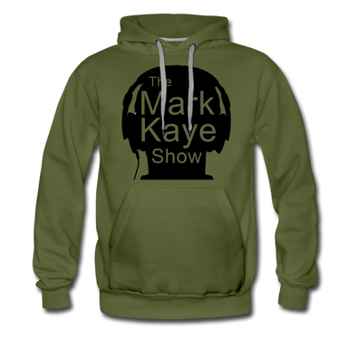 Military Style Logo Hoodie - olive green