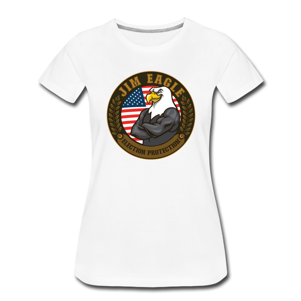 JOE EAGLE Women's Tee - white