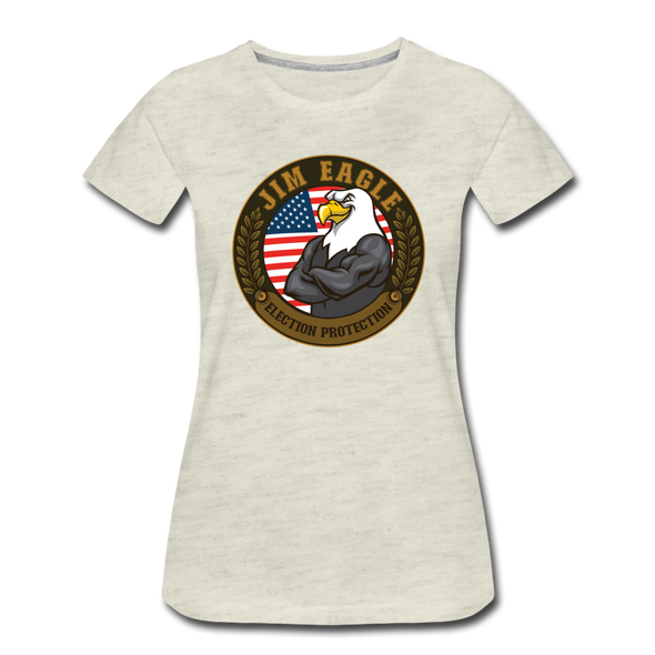 JOE EAGLE Women's Tee - heather oatmeal