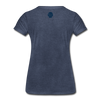 JOE EAGLE Women's Tee - heather blue
