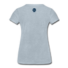 JOE EAGLE Women's Tee - heather ice blue