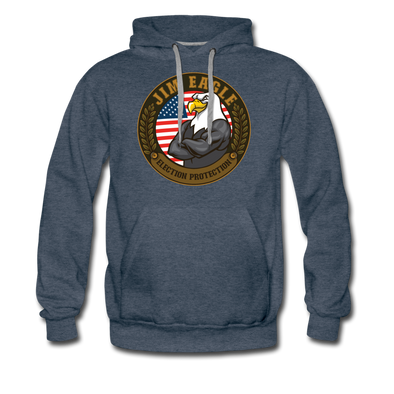 JIM EAGLE PREMIUM HOODIE - heather denim