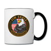 JIM EAGLE Freedom in The Morning Coffee Mug - white/black