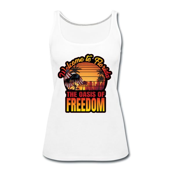WOMEN'S OASIS OF FREEDOM TANK - white