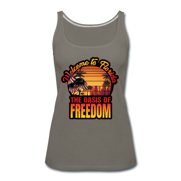 WOMEN'S OASIS OF FREEDOM TANK - asphalt gray