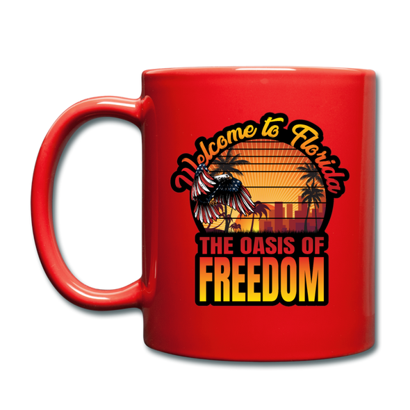 OAISS OF FREEDOM MUG - red