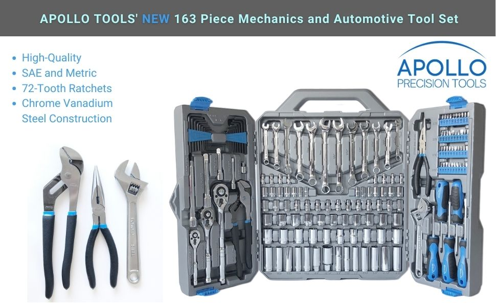 blue mechanics tool set apollo tools