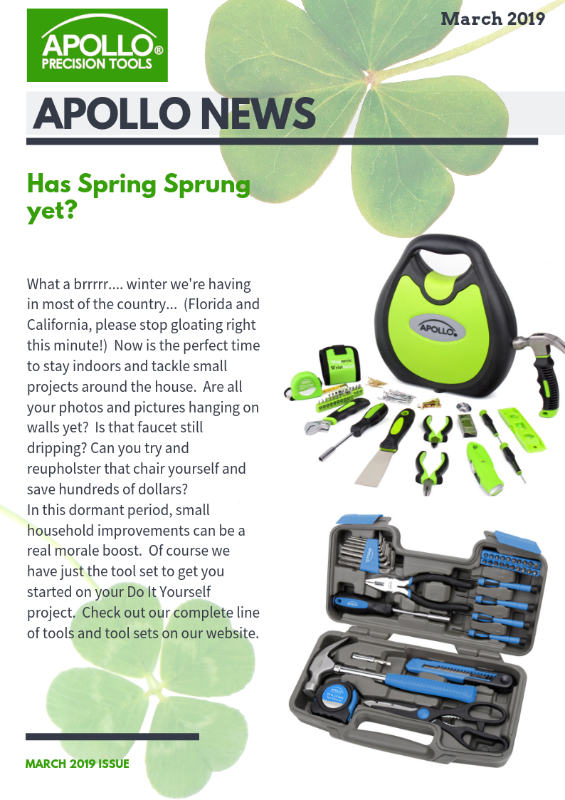 Apollo Tools household tool sets for spring