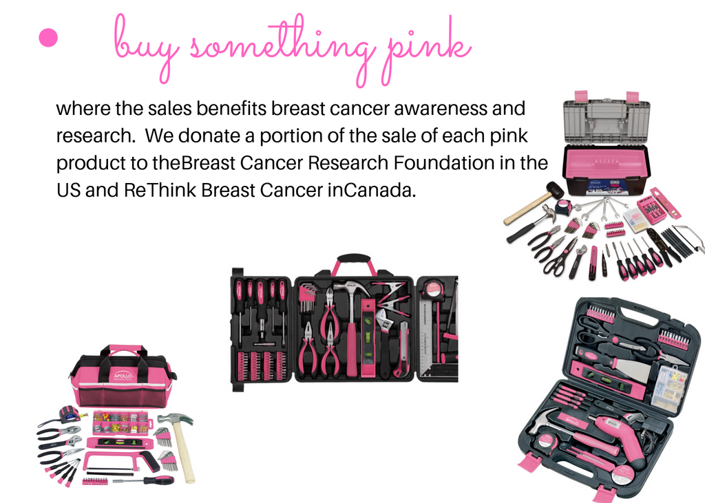 buy pink tools breast cancer research apollo tools