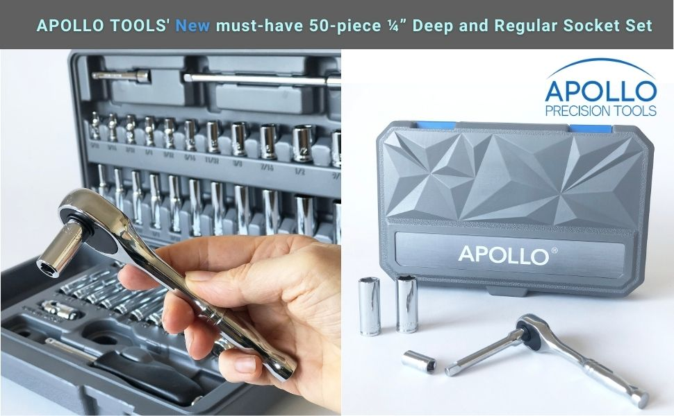 socket set blue tool set apollo tools