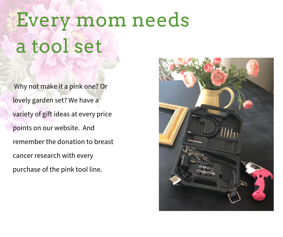 Mother's Day gift idea tool set pink drill