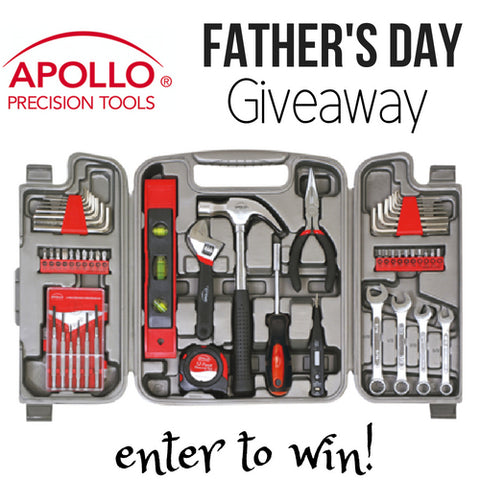 enter giveaway fathers day 53 piece tool set apollo tools