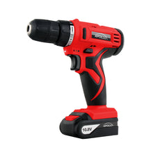 10.8 V Lithium-Ion Cordless Drill red Apollo Tools with charger -- DT4937