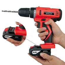 10.8 V Lithium-Ion Cordless Drill with 30 Piece Accessory Set  charger install Apollo Tools-- DT4937