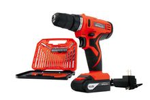 10.8 V Lithium-Ion Cordless Drill with 30 Piece Accessory Set in case. Red Apollo Tools -- DT4937