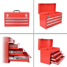 Drawer Steel Tool Box -- RED CASE  shown open and empty  DT6806