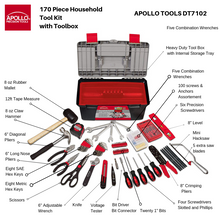 all tools contained in Apollo Tools box with 170 tools included