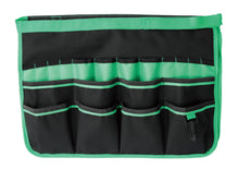 green bucket organizer shown flat on white background