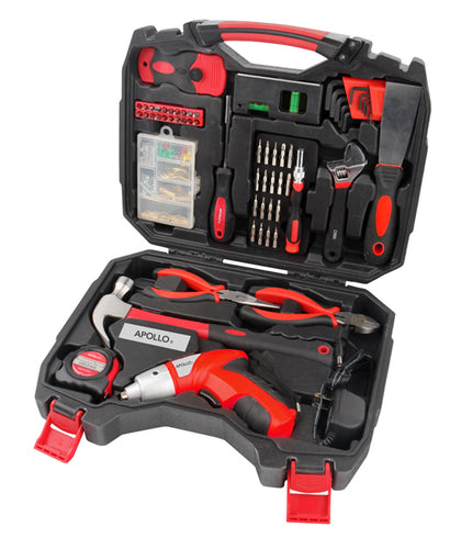 160 Piece Household Tool Kit with 4.8 Volt Cordless Screwdriver - DT4929