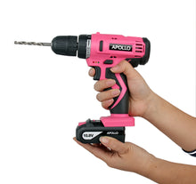 Apollo Tools 10.8 V Lithium Ion Cordless Drill battery pink lady drill set cordless drill with accessory case