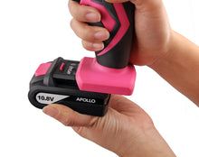 Apollo Tools 10.8 V Lithium Ion Cordless Drill battery pink lady drill set cordless drill