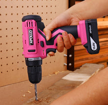 Apollo Tools 10.8 V Lithium Ion Cordless Drill pink lady drill set cordless drill