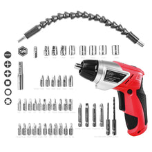 3.6 Volt Lithium-Ion Rechargeable Screwdriver with 45 Pieces Accessory Set - DT4944