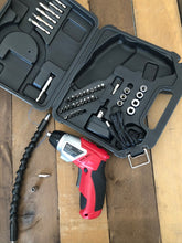 rechargeable cordless screwdriver and drill bits extension
