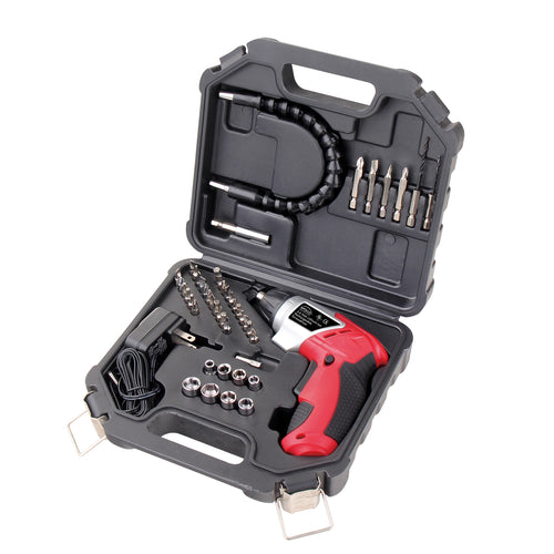 3.6 Lithium-Ion Rechargeable Screwdriver with 45 Pieces Accessory Set - DT4944