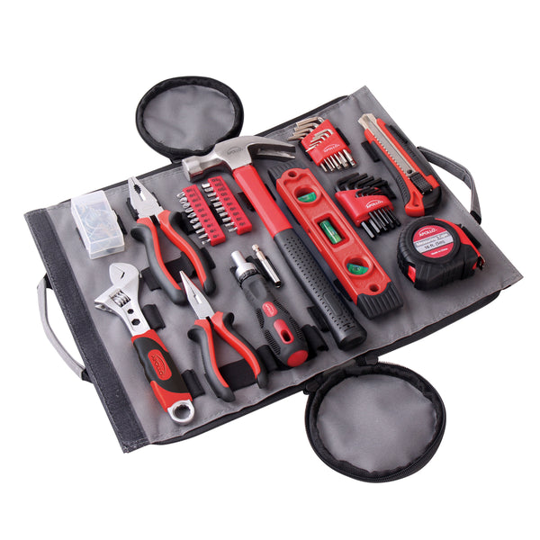 91 Piece Household Tool Kit in Roll-Up Bag - DT4945
