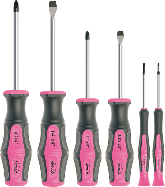 6 Screwdrivers  - Pink - DT5006P