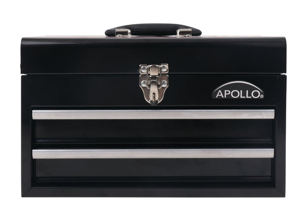 black metal tool chest, black steel tool chest, black tool box, black metal tool box, Apollo Tools box