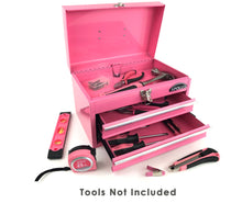 pink metal tool box tool chest with drawers for tool organizing