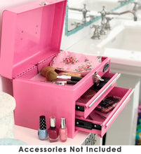 pink metal tool box tool chest with drawers for makeup bathroom decor and organizing