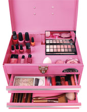 pink metal tool box tool chest with drawers for makeup, nail salon organizing, tattoo equipment
